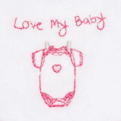 Imagem 2 do produto Babador atoalhado Clothes Girl - Classic for Baby