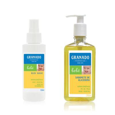 Imagem 1 do produto Kit com 1 Sabonete Líquido + 1 Óleo Suave para bebê Tradicional - Granado