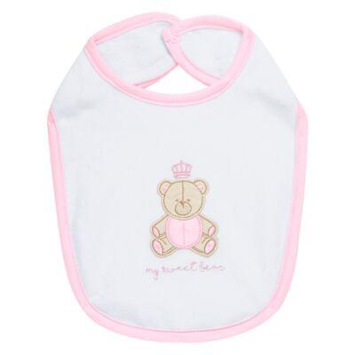 Imagem 1 do produto Babador para bebe atoalhado Princess Bear - Classic for Baby