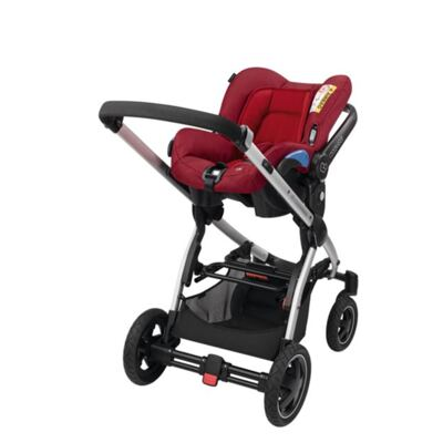 Imagem 5 do produto Travel System: Bebe Confort com Base Citi Black Raven Maxi-Cosi + Carrinho Zapp Xtra 2 Red Rumour Quinny