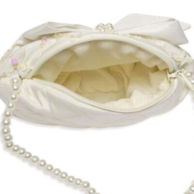 Imagem 2 do produto Bolsinha em cetim Laço Marfim - Roana