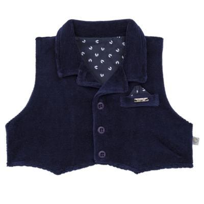 Imagem 3 do produto Macacão longo c/ Colete para bebe em plush Benicio - Beth Bebê - BB8919 Macacão Colete Benicio Azul-M