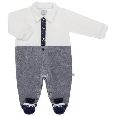 Imagem 5 do produto Macacão longo c/ Colete para bebe em plush Benicio - Beth Bebê - BB8919 Macacão Colete Benicio Azul-M