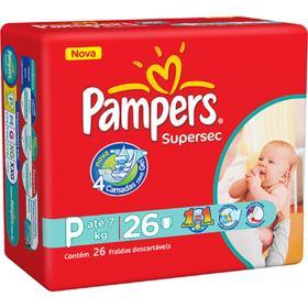 Fralda Pampers Supersec - P | 26 unidades