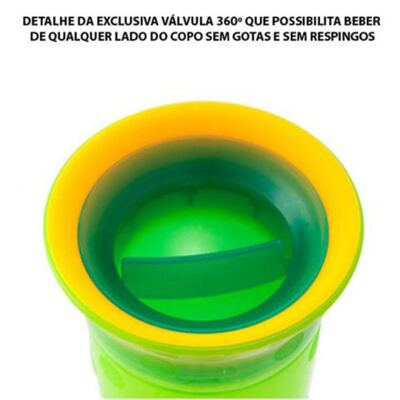Imagem 2 do produto Copo Grow Up Pequeno Antivazamento Verde (9m+) - Sassy