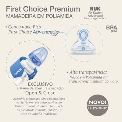 Imagem 4 do produto Mamadeira First Choice Premium Girls 150ml (0 - 6m) - NUK - NK3027 Mamadeira NUK FC PREMIUM 150ml Girl (0-6m)