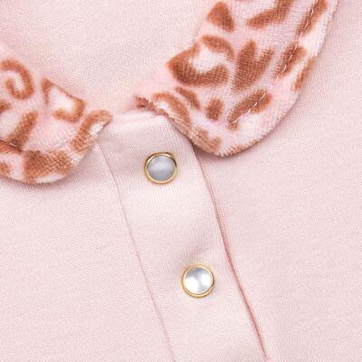 Imagem 4 do produto Body longo com Calça (mijão) e Colete para bebe Leopard Print - Grow Up - 01040056.121 CJ PG CUDDLE C/ COLETE ROSA BLUSH-P