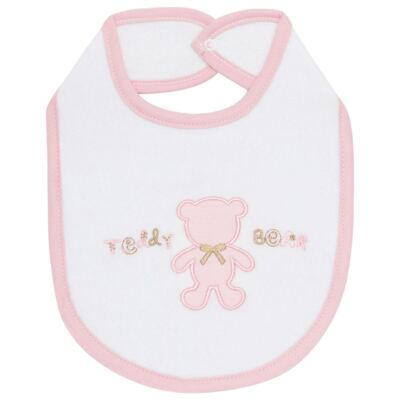 Babador atoalhado Pink Teddy Bear - Classic for Baby