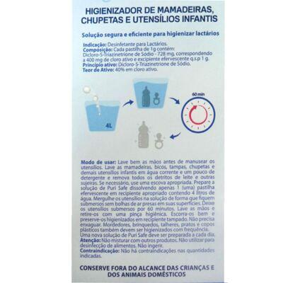 Imagem 2 do produto Higienizador de Utensílios Infantis PuriSafe 20 Pastilhas Efervescentes