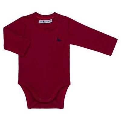 Imagem 1 do produto Body longo em cotton touch Vermelho - Mini Sailor - 01074263 BODY M/L BASICO SUEDINE VERMELHO -0-3
