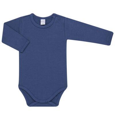 Imagem 2 do produto Body longo com Calça para bebe em algodão egípcio c/ jato de cerâmica e filtro solar fps 50 Mariner - Mini & Kids - CS571.323 CONJ BODY ML C/ MIJAO SUEDINE LISTRAS-P