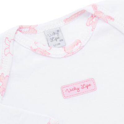 Imagem 3 do produto Body longo com Calça (mijão) para bebe em high comfort Pink Litle Friends - Vicky Lipe - 1825151.311 BODY M/L MIJÃO PÉ REVER. FRIENDS-P