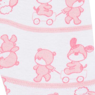 Imagem 5 do produto Body longo com Calça (mijão) para bebe em high comfort Pink Litle Friends - Vicky Lipe - 1825151.311 BODY M/L MIJÃO PÉ REVER. FRIENDS-P