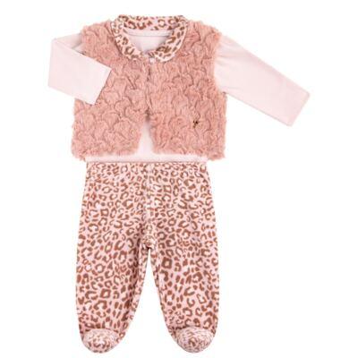 Imagem 2 do produto Body longo com Calça (mijão) e Colete para bebe Leopard Print - Grow Up - 01040056.121 CJ PG CUDDLE C/ COLETE ROSA BLUSH-RN