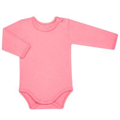 Imagem 2 do produto Body longo com Calça para bebe em algodão egípcio c/ jato de cerâmica e filtro solar fps 50 Pink Little Toys - Mini & Kids - CS541.320 CONJ BODY ML C/ MIJAO ESTRELAS ROSA-RN
