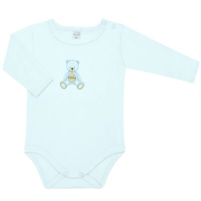 Imagem 2 do produto Body longo com Calça  em Pima Cotton Supreme Prime Bear Azul - Mini & Kids - CS971 BODY ML C/ MIJÃO SUEDINE AZUL BB-G