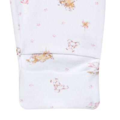 Imagem 4 do produto Body longo com Calça para bebe em algodão egípcio c/ jato de cerâmica e filtro solar fps 50 Pink Little Toys - Mini & Kids - CS621.325 CONJ. BODY ML C/ MIJAO SUEDINE CARNEIRINHOS-RN