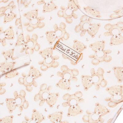 Imagem 3 do produto Body longo com Calça em algodão egípcio c/ jato de cerâmica e filtro solar fps 50 Nature Little Friend Bear - Mini & Kids - CJBM0001.18 CONJUNTO BODY M/L C/CALÇA - SUEDINE-GG