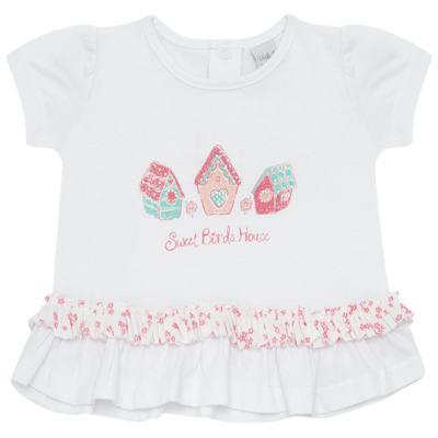 Imagem 2 do produto Bata com Calcinha para bebe em cotton Secret Home - Vicky Lipe - 831565 CONJUNTO BATA C/ CALCINHA COTTON-M