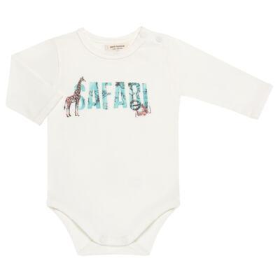 Imagem 2 do produto Body longo c/ Calça (Mijão) para bebe em viscomfort Safari - Petit - 17064308 CJ BODY M/L MIJAO PE REV COTTON/VIS SAFARI-G