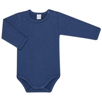 Imagem 2 do produto Body longo com Calça para bebe em algodão egípcio c/ jato de cerâmica e filtro solar fps 50 Little Boat - Mini & Kids - CS641.326 CONJ BODY ML C/ MIJAO SUEDINE MAR-P
