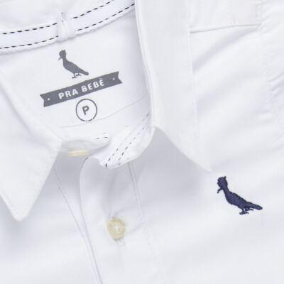 Imagem 2 do produto Body camisa para bebe Branco - Reserva Mini - RM25359 BODY CAMISA BRANCO-M