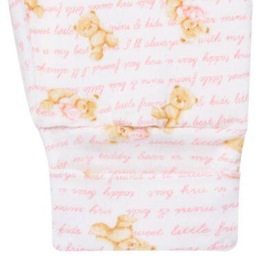 Imagem 4 do produto Body longo com Calça para bebe em algodão egípcio c/ jato de cerâmica e filtro solar fps 50 Pink Bear - Mini & Kids - URSINHAS-RN