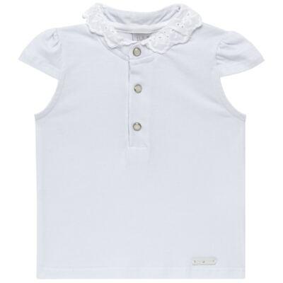 Imagem 1 do produto Blusinha para bebe em cotton Branca - Baby Classic - CLÁSSICO-GG