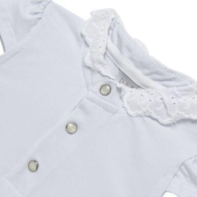 Imagem 2 do produto Blusinha para bebe em cotton Branca - Baby Classic - CLÁSSICO-GG