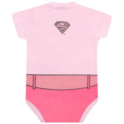 Imagem 2 do produto Body curto para bebe em malha Stica Stica Supergirl - Get Baby - Supergirl-EG