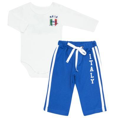 Imagem 1 do produto Body longo com Calça para bebe em Pima Cotton Supreme Itália - Mini & Kids - ITÁLIA-M