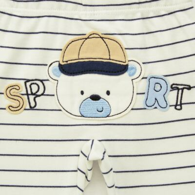 Imagem 5 do produto Body longo com Calça para bebe em algodão egípcio c/ jato de cerâmica e filtro solar fps 50 Sports - Mini & Kids - M