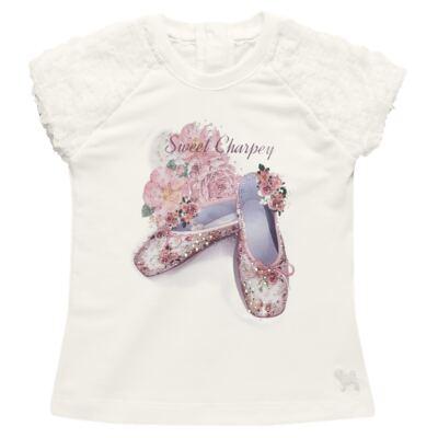 Imagem 2 do produto Blusa com Legging para bebe em cotton Ballerina Camelli - Charpey - WHITE -GG