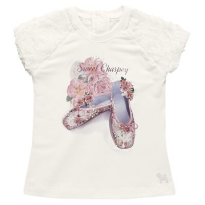 Imagem 2 do produto Blusa com Legging para bebe em cotton Ballerina Camelli - Charpey - WHITE -P
