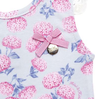 Imagem 3 do produto Body curto com Shorts para bebe em algodão egípcio c/ jato de cerâmica e filtro solar fps 50 L'Hortensia - Mini & Kids - HORTÊNCIAS-P