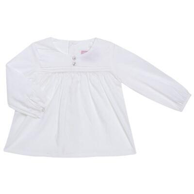 Imagem 1 do produto Bata manga longa em tricoline Off White - Missfloor - TRICOLINE-6