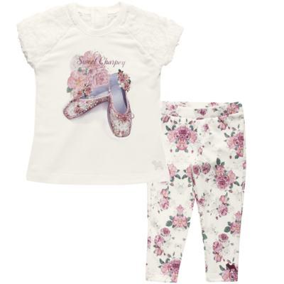Imagem 1 do produto Blusa com Legging para bebe em cotton Ballerina Camelli - Charpey - WHITE -G