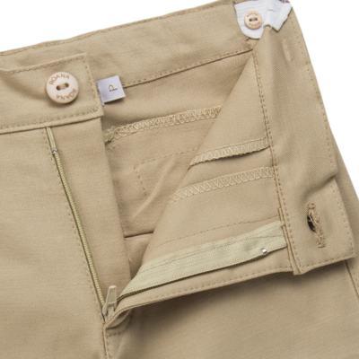 Imagem 7 do produto Body Camisa c/ Calça & Suspensório para bebe em tricoline Xadrez - Roana - Bege -RN
