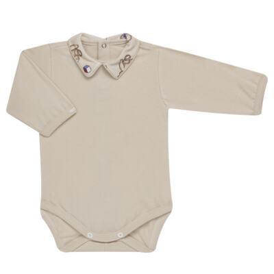 Imagem 2 do produto Body com Mijão em algodão egípcio Baby Toys - Roana - BM000887005 BODY C MIJAO 666 BEGE-G