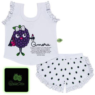Imagem 1 do produto Baby Doll que Brilha no Escuro Amora - Cara de Criança - B2297 AMORA PJ-BABY DOLL M/MALHA-4