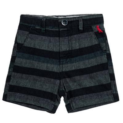 Imagem 1 do produto Bermuda para bebe Striped Jeans - Reserva Mini - RM23230 BERMUDA BB CASUAL AVESSO-1