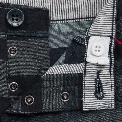 Imagem 3 do produto Bermuda para bebe Striped Jeans - Reserva Mini - RM23230 BERMUDA BB CASUAL AVESSO-1