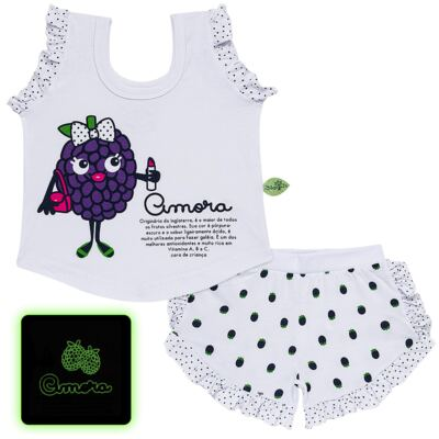 Imagem 1 do produto Baby Doll que Brilha no Escuro Amora - Cara de Criança - B2297 AMORA PJ-BABY DOLL M/MALHA-2