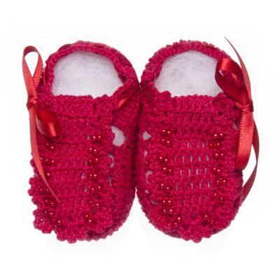 Imagem 1 do produto Sapatinho para bebe em tricot Vermelho - Roana