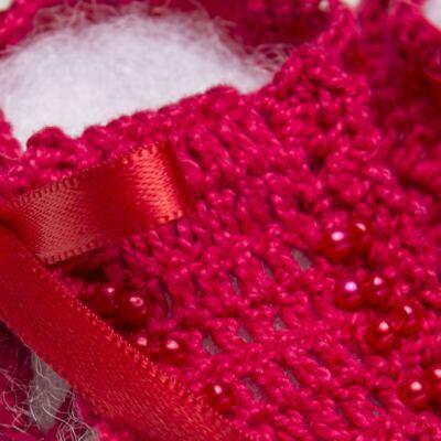 Imagem 2 do produto Sapatinho para bebe em tricot Vermelho - Roana