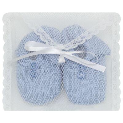 Imagem 3 do produto Sapatinho em tricot Azul - Roana