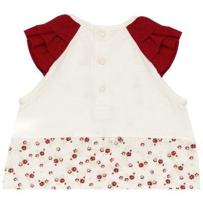 Imagem 4 do produto Macacão babadinhos c/ faixa para bebe em malha Flowery Bear - Vicky Lipe - 20671360 MACACÃO RAGLÃ C/ BABADOS MALHA URSA FLORAL-G