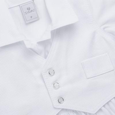 Imagem 3 do produto Camisa Colete, Shorts e Boné em tricoline Branco - Sylvaz - SZ273 Conjunto Curto Colete Batizado Branco-M