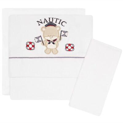 Imagem 1 do produto Jogo de lençol para carrinho em malha Nautic - Classic for Baby
