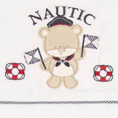 Imagem 2 do produto Jogo de lençol para carrinho em malha Nautic - Classic for Baby